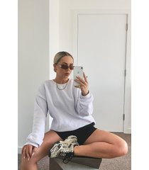 mix & match basic oversized sweater, wit