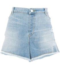 emporio armani denim shorts