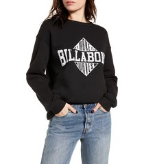 women's billabong headline graphic sweatshirt