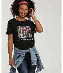camiseta estampa friends warner bros manga curta feminina - feminino