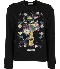 red valentino chinese lacquer printed sweatshirt sweater