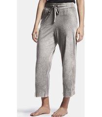 luxe lotus jersey cropped pajama pant