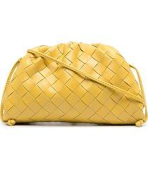 bottega veneta pouch 20 leather clutch bag - yellow