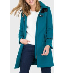 abrigo io  verde petróleo - calce ajustado