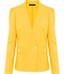 dames blazer geel