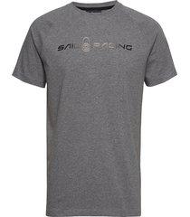 race logo tee t-shirts short-sleeved grå sail racing