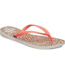 hav slim animals shoes summer shoes flip flops orange havaianas