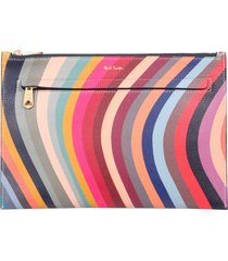 paul smith pouch with swirl print