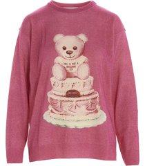 moschino teddy torta sweater