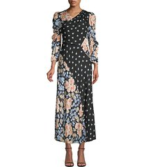 floral mix print dress