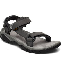 m terra fi 5 universal leather shoes summer shoes sandals svart teva
