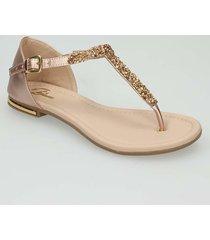 sandalias oro rosa bata ushaina r mujer