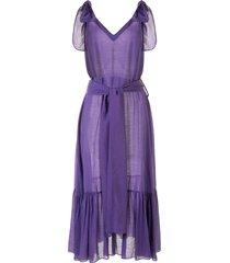 bambah triangle simmer dress - purple