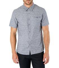 men's 7 diamonds evening flow button-up shirt, size small - grey