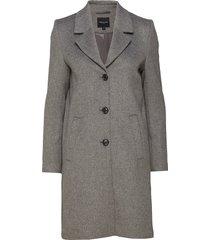 slfsasja wool coat noos b wollen jas lange jas grijs selected femme