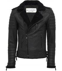 chaqueta de cuero negro cordoba