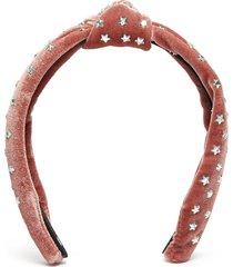 star stud knot velvet headband