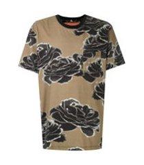 osklen t-shirt pocket ink rose - verde