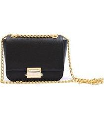 bolsa mini bag transversal corrente lisa casual feminina