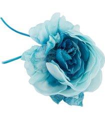 alessandra rich broche com aplicação floral - azul