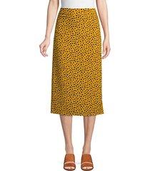leopard-print pencil skirt