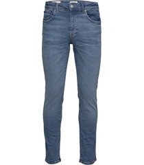 slhslim-leon 6211 lblue su-st jns w noos slimmade jeans blå selected homme