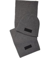 calvin klein men's scarf and beanie set
