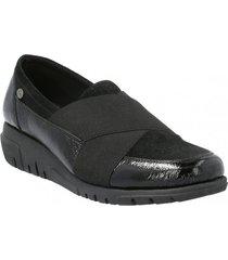 zapato de vestir slip on cuero mujer adamina negro hush puppies