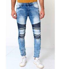 skinny jeans true rise biker broek