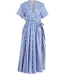 blue striped jump skort dress