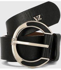 cinturón negro-plateado vélez