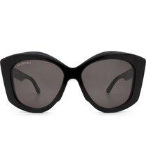 balenciaga balenciaga bb0126s black sunglasses