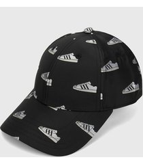 gorra negro-blanco adidas originals super bb