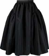 alexander mcqueen high-waisted full midi skirt