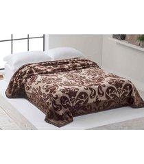 cobertor de casal corttex amy 1,80 x 2,20 metros, marrom