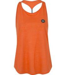 camiseta regata colcci detalhe costas - feminina - laranja