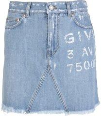 givenchy atelier delave blue mini skirt