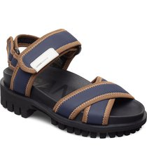 hiking sandal scuba shoes summer shoes flat sandals blå ganni
