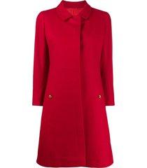a.n.g.e.l.o. vintage cult 1960s peter pan collar a-line coat - red