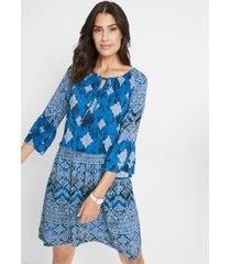 geweven jurk met print