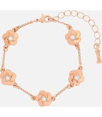 ted baker women's panele polished flower bracelet - rose gold