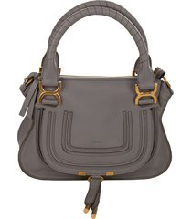 chloé small marcie double carry tote