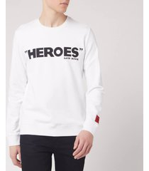 hugo men's deroes sweatshirt - white - xl