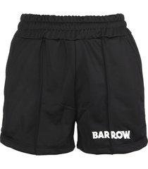 barrow black piped side-stripe logo shorts woman