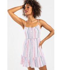 casey striped swing dress - multi