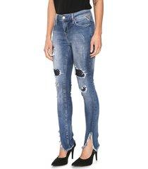calça jeans replay skinny luz azul
