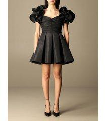 elisabetta franchi dress elisabetta franchi short dress in taffeta with rouches