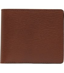 'hipster' embossed calfskin leather bi fold wallet