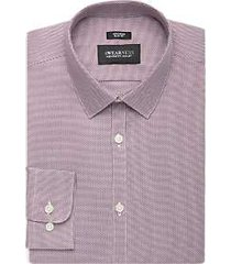awearness kenneth cole woven burgundy extreme slim fit dress shirt