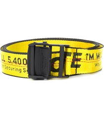 off-white regular industrial belt - yellow